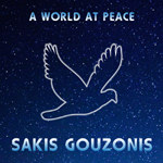 Instrumental electronic music album A World At Peace by Sakis Gouzonis