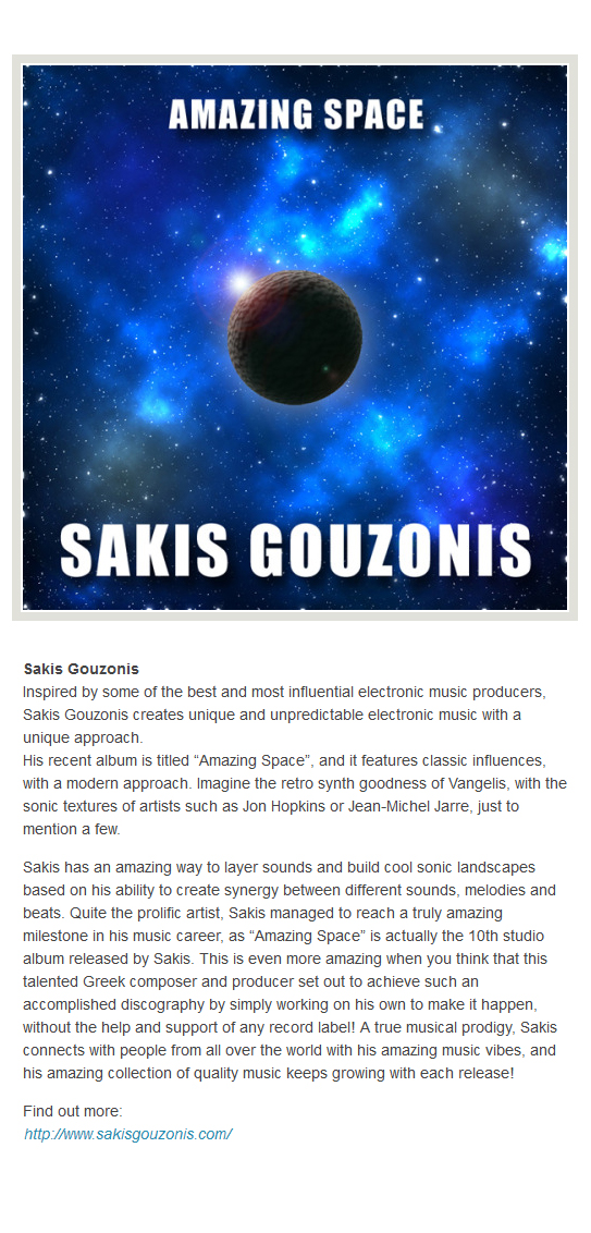Music album reviews for Sakis Gouzonis from 13 June 2016 onwards